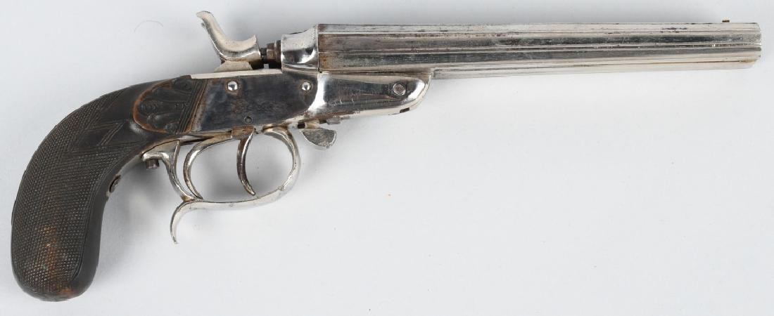 LePAGE A LIEGE DOUBLE BARREL .44 PISTOL