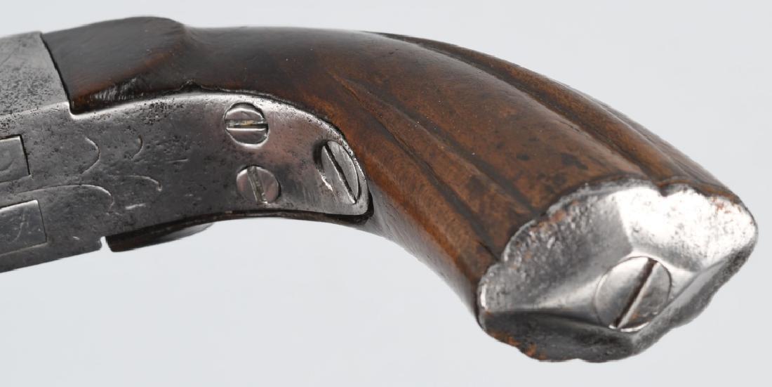 ANTIQUE DOUBLE BARREL 9mm PIN FIRE PISTOL - 7