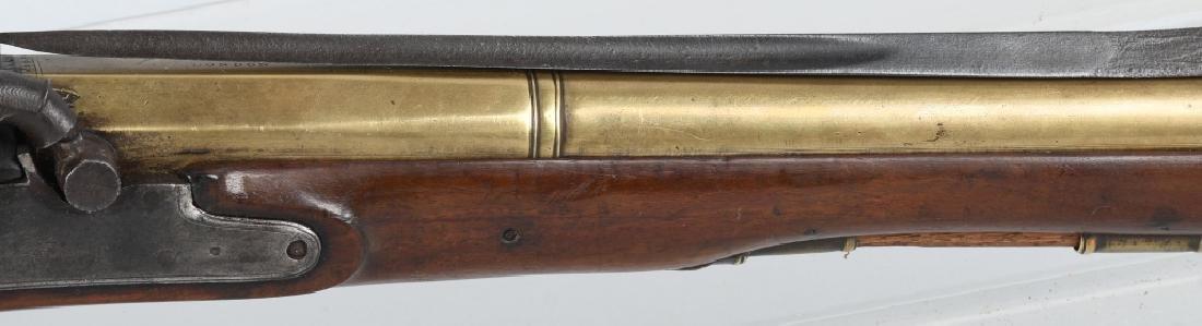 BRITISH SMITH brass-barrel BLUNDERBUSS & BAYONET - 4