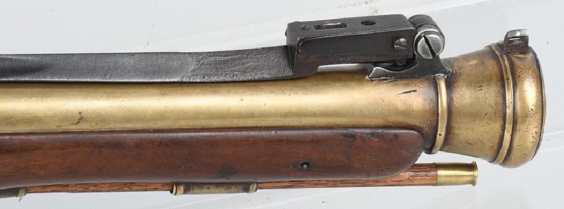 BRITISH SMITH brass-barrel BLUNDERBUSS & BAYONET - 5