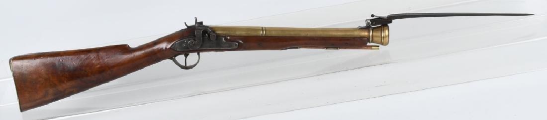 BRITISH SMITH brass-barrel BLUNDERBUSS & BAYONET - 6