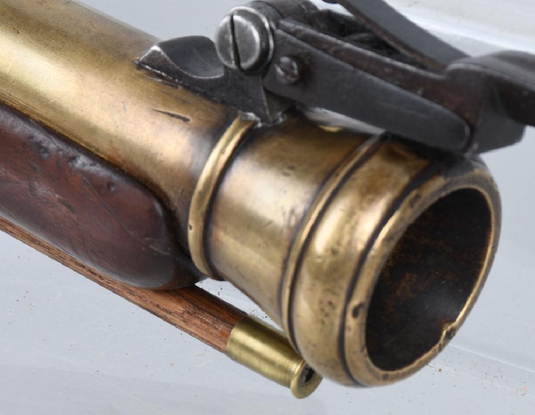 BRITISH SMITH brass-barrel BLUNDERBUSS & BAYONET - 8