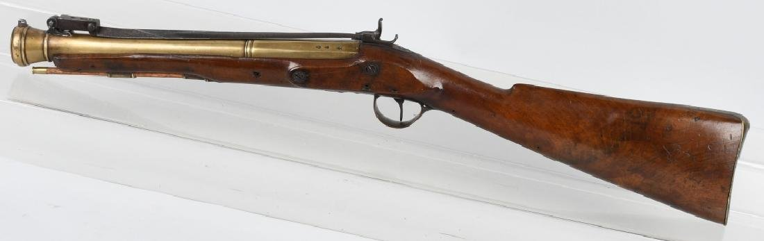 BRITISH SMITH brass-barrel BLUNDERBUSS & BAYONET - 9