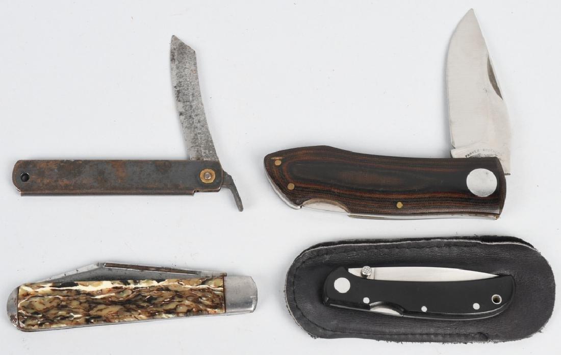 4 - VINTAGE POCKET KNIVES AL-MAR, KENT, PARKER etc