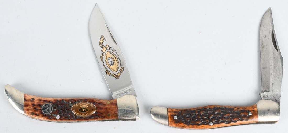 2 -KA-BAR HUNTER KNIVES 1989 LAST YEAR KA-BAR CLUB