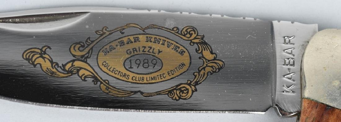 2 -KA-BAR HUNTER KNIVES 1989 LAST YEAR KA-BAR CLUB - 7