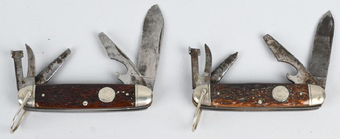 3 - REMINGTON KNIVES BOYSCOUTS & BRASS SALT WATER - 5
