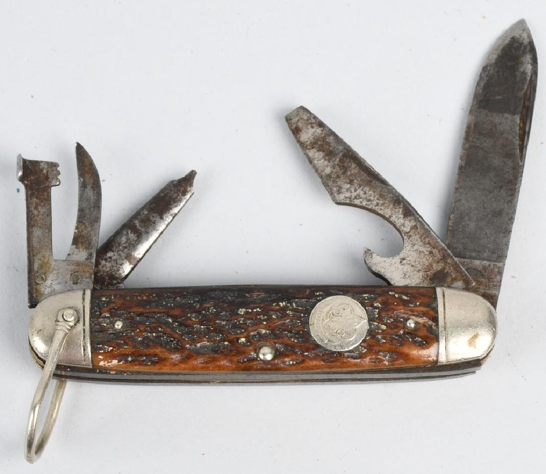 3 - REMINGTON KNIVES BOYSCOUTS & BRASS SALT WATER - 7