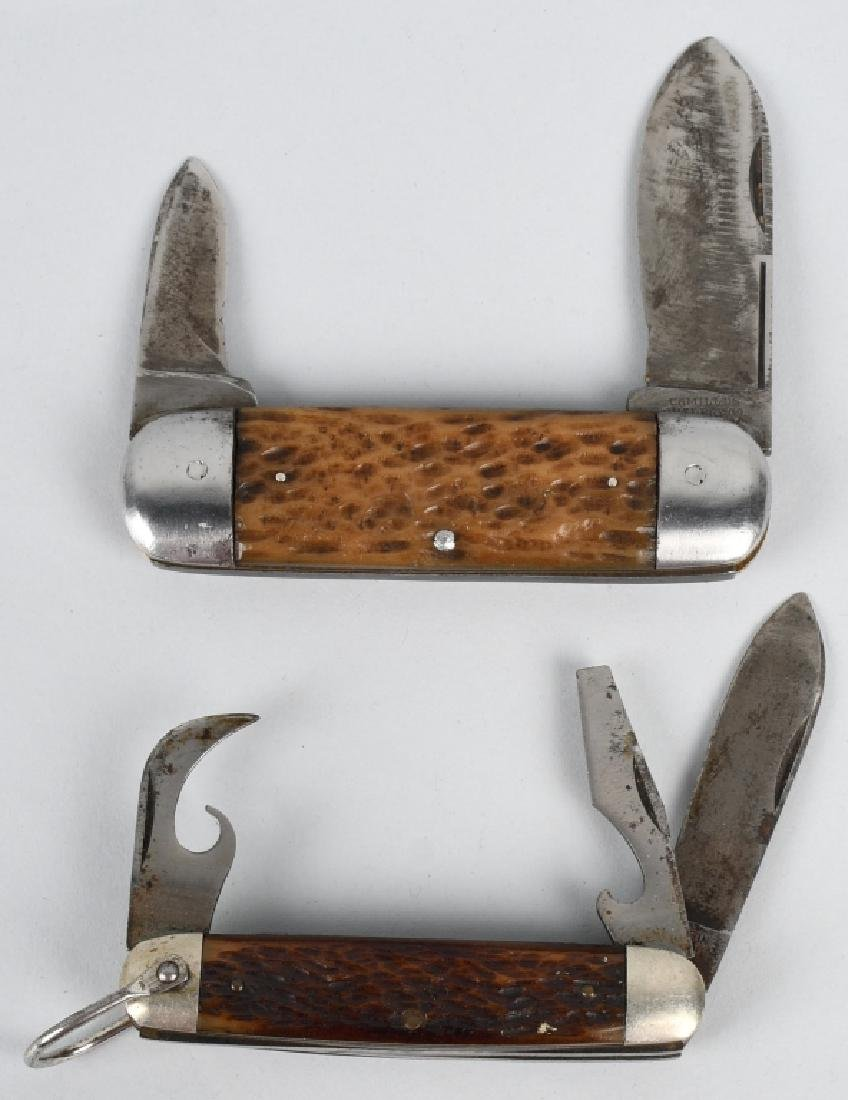 2- VINTAGE CAMILLUS KNIVES TOENAIL & UTILITY