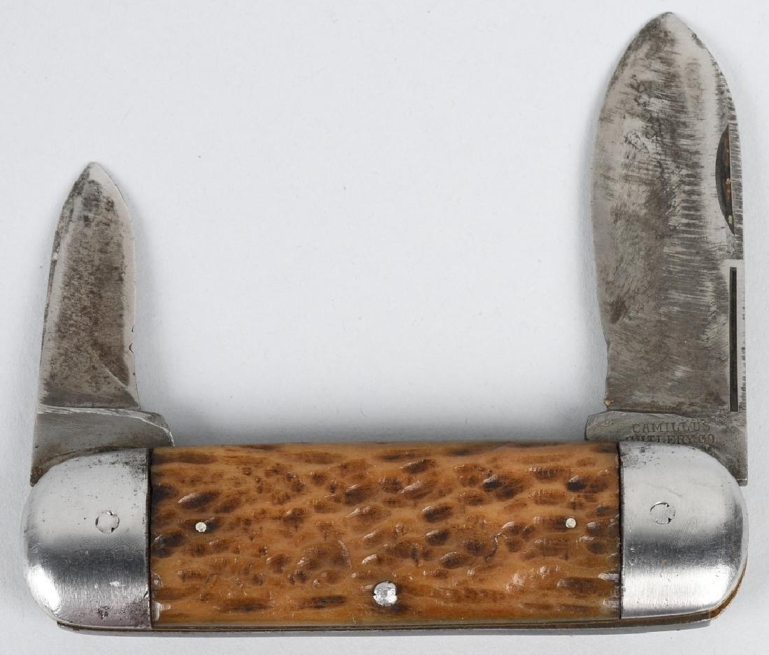 2- VINTAGE CAMILLUS KNIVES TOENAIL & UTILITY - 2