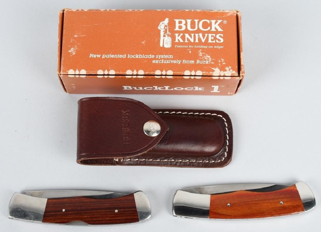 2- BUCK BUCKLOCK KNIVES 531 USA