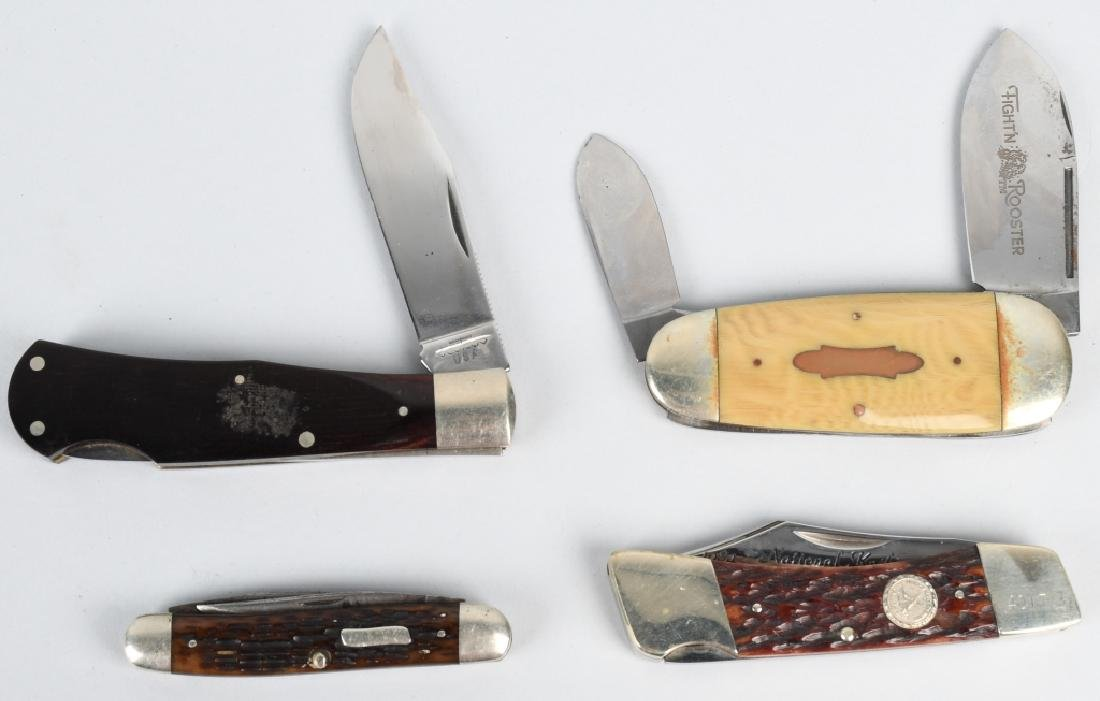 4- POCKET KNIVES BERTRAM, CUTCO, CATTURAGUS ETC