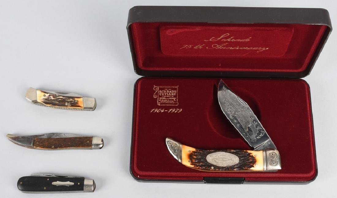 4 - SCHRADE KNIVES 75th LINEMAN TICKLER