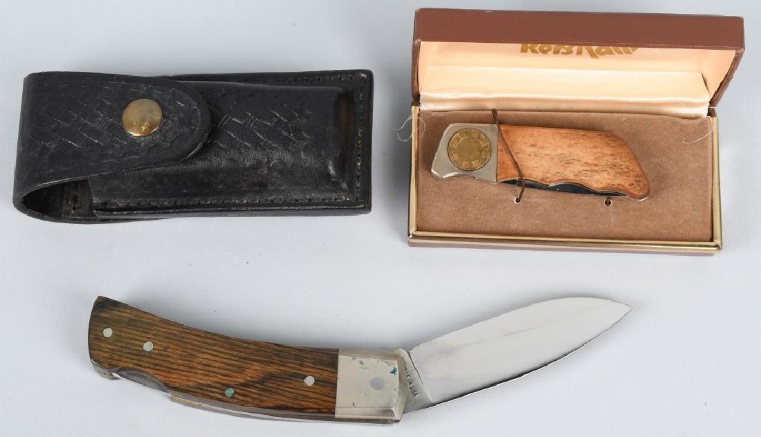 2- FOLDER KNIVES KERSHAW GEAR LOCK & S&W USA