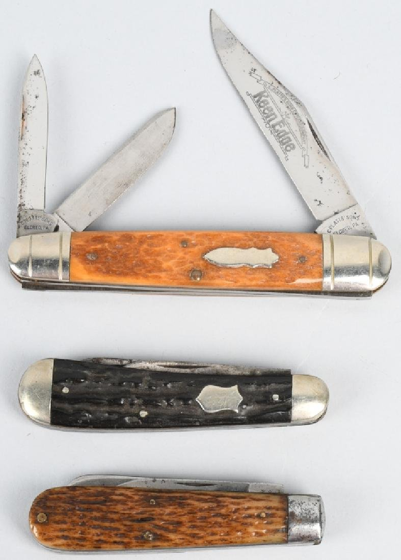 3 - EARLY POCKET KNIVES PLATT BROS TRENTON L F C