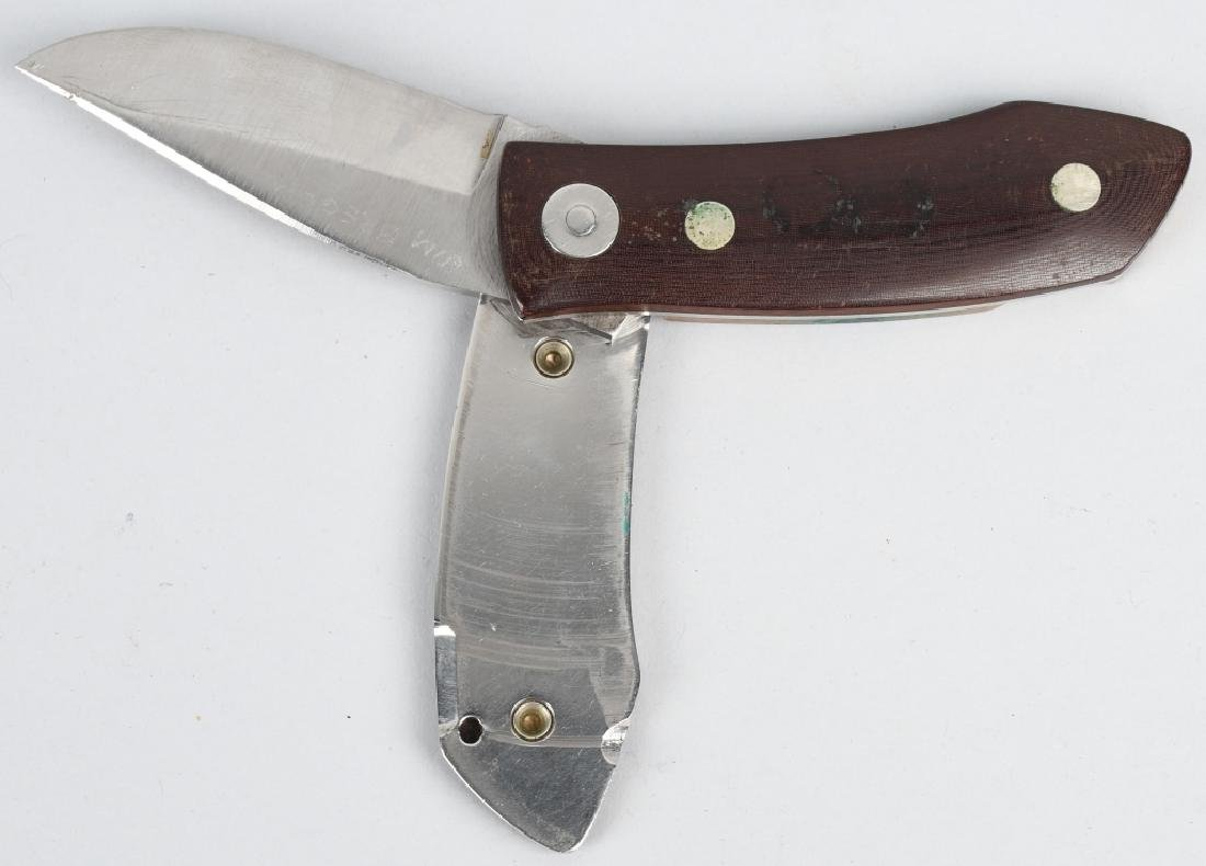 2-BARRY WOOD CUSTOM COLT FUNNY FOLDER KNIVES - 3