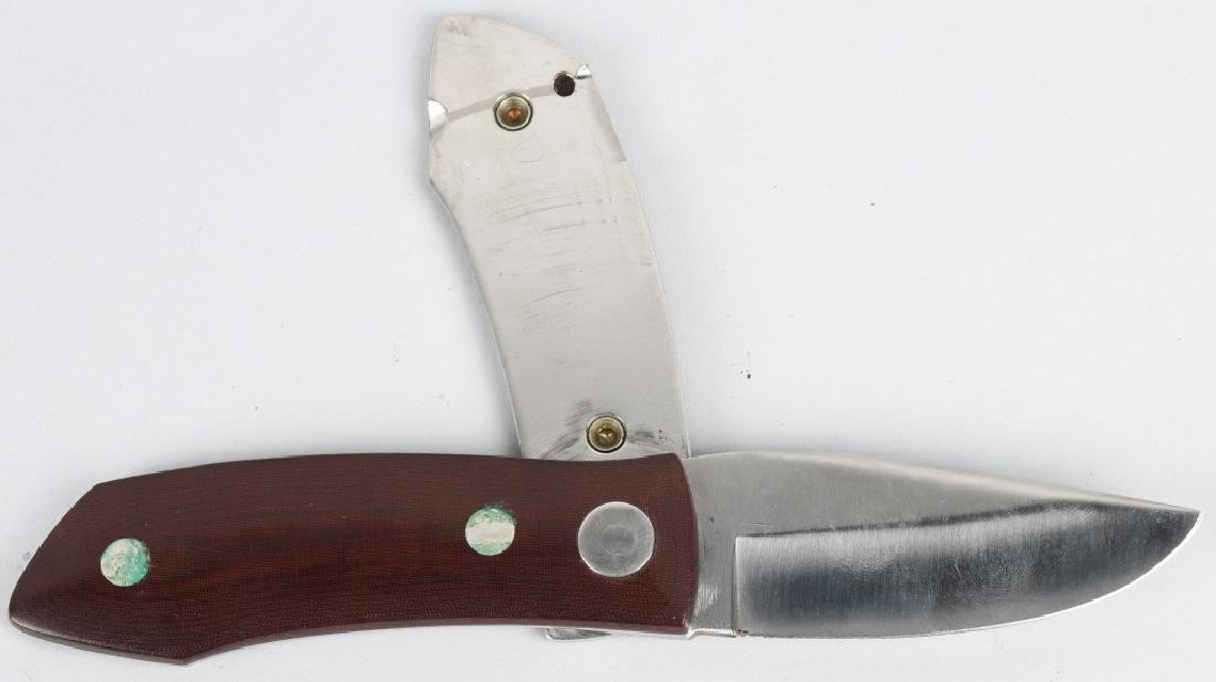 2-BARRY WOOD CUSTOM COLT FUNNY FOLDER KNIVES - 5