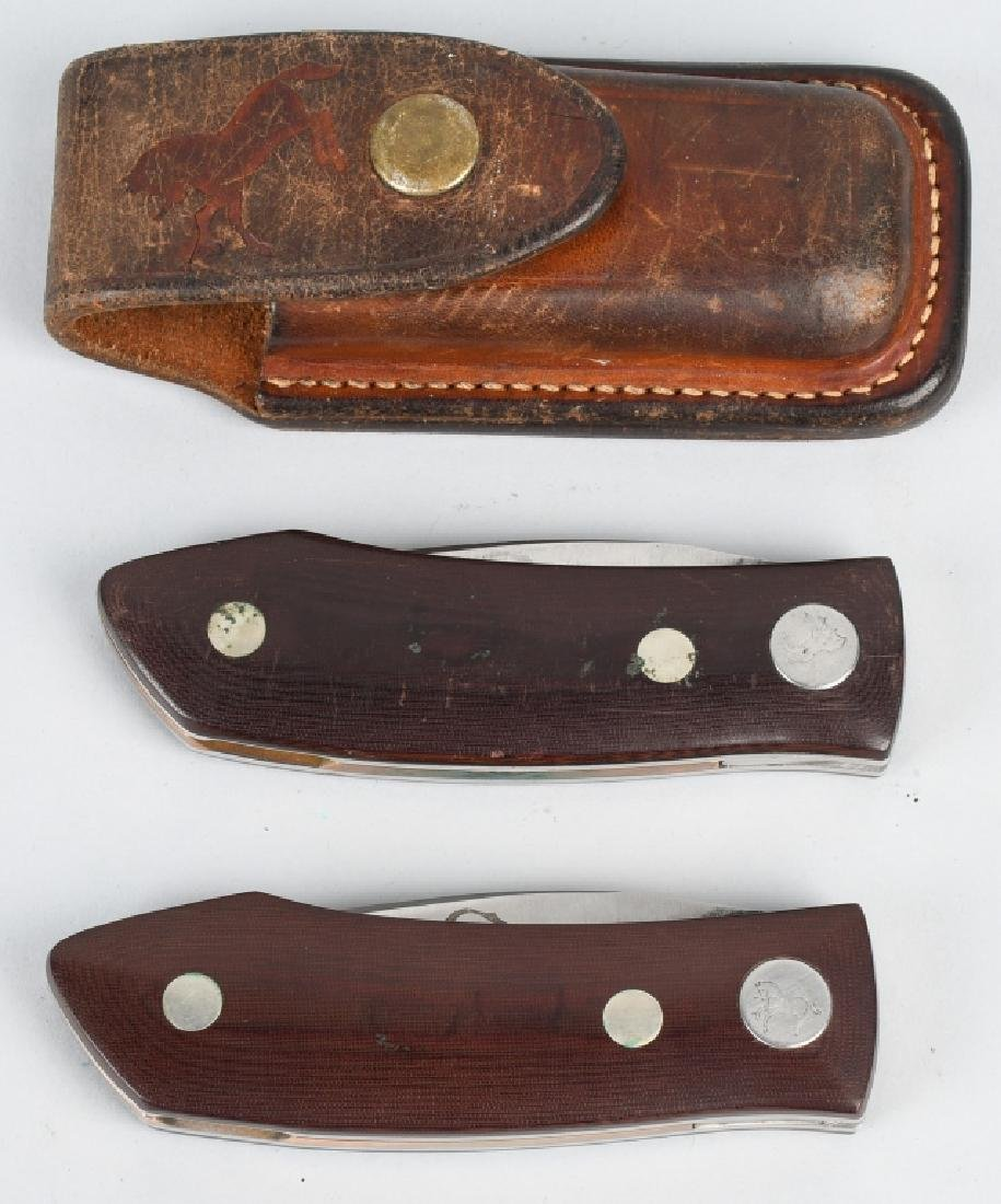 2-BARRY WOOD CUSTOM COLT FUNNY FOLDER KNIVES - 7