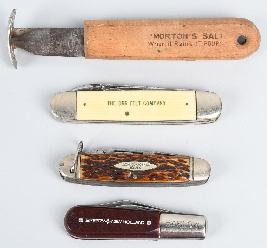 4 - ADVERTISNG POCKET KNIVES BUSTER BROWN ETC...