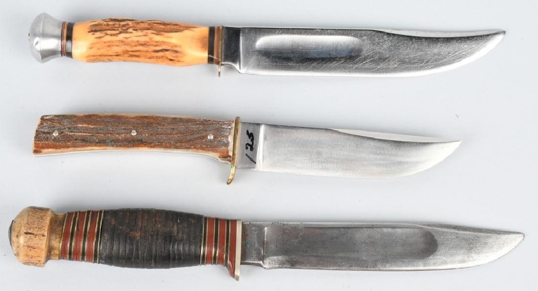 3-HUNTER KNIVES HENCKELS WADE & BUTCHER GAMBILL - 2