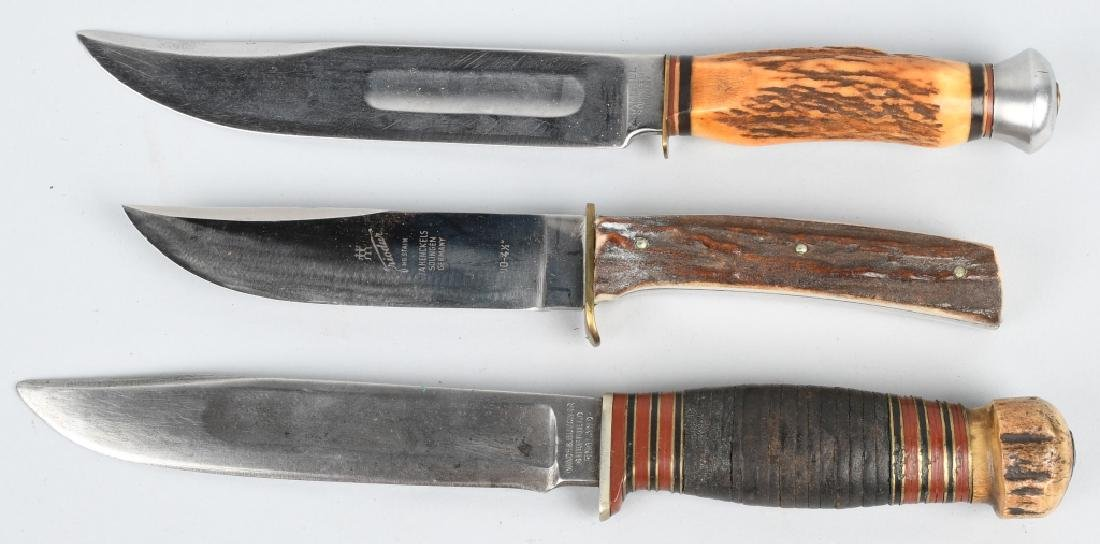 3-HUNTER KNIVES HENCKELS WADE & BUTCHER GAMBILL - 3