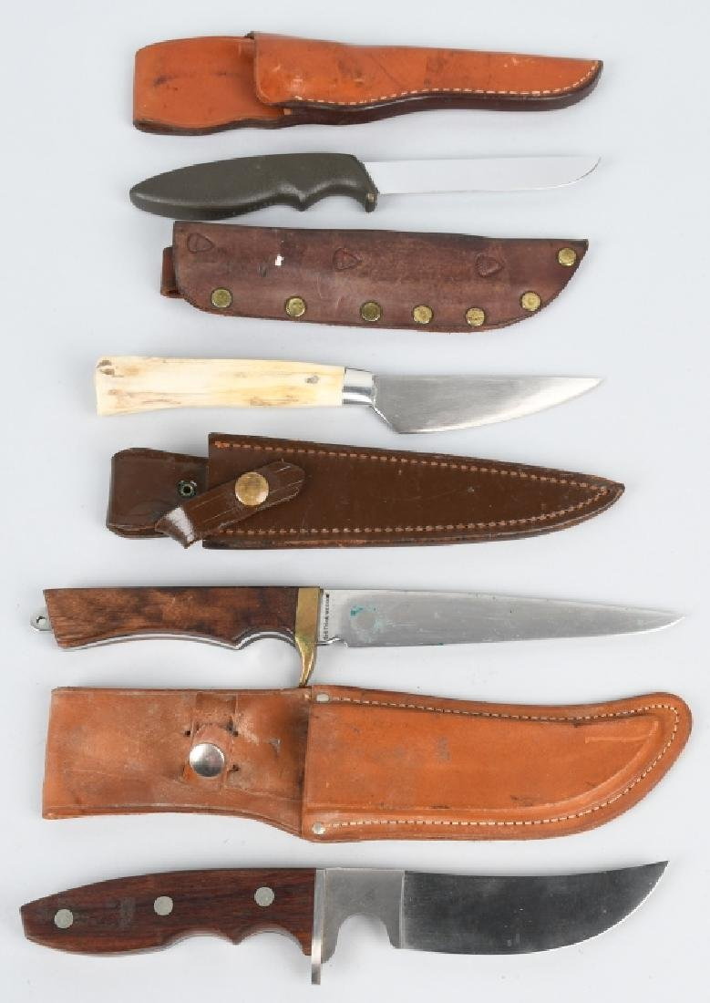 4- HUNTER KNIVES IMPERIAL S&W COX GERBER