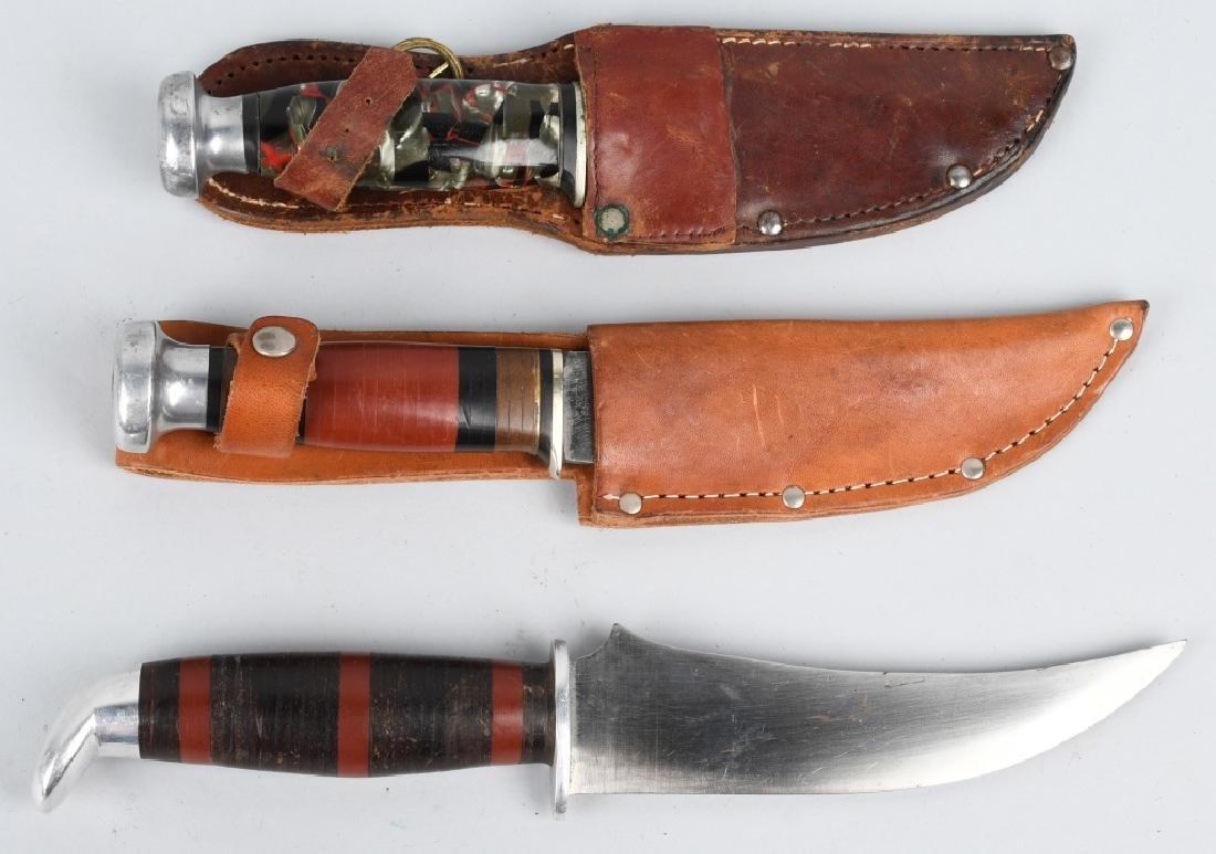 3- KA-BAR SCHRADE HUNTER SKINNER KNIVES - 6