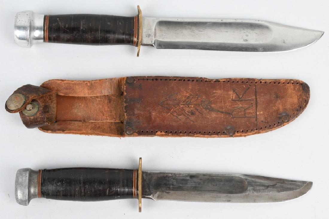2 MARBLES KNIVES EXPERT & CANOE