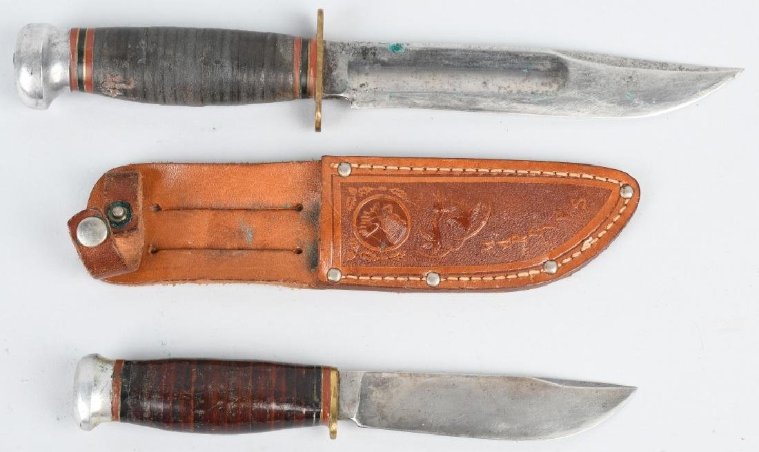 2- MARBLES KNIVES HUNTER & PREWAR SPORTS