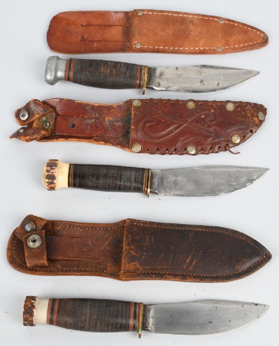 3- EARLY HUNTER & SKINNER KNIVES