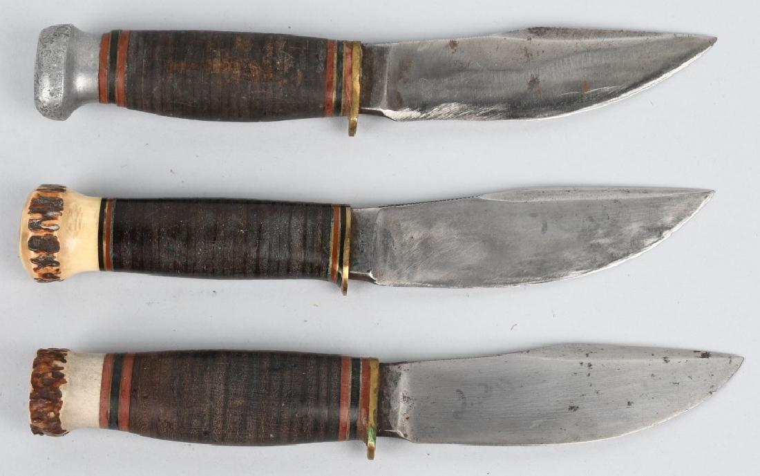 3- EARLY HUNTER & SKINNER KNIVES - 2