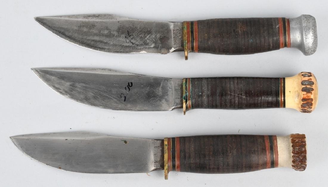 3- EARLY HUNTER & SKINNER KNIVES - 3