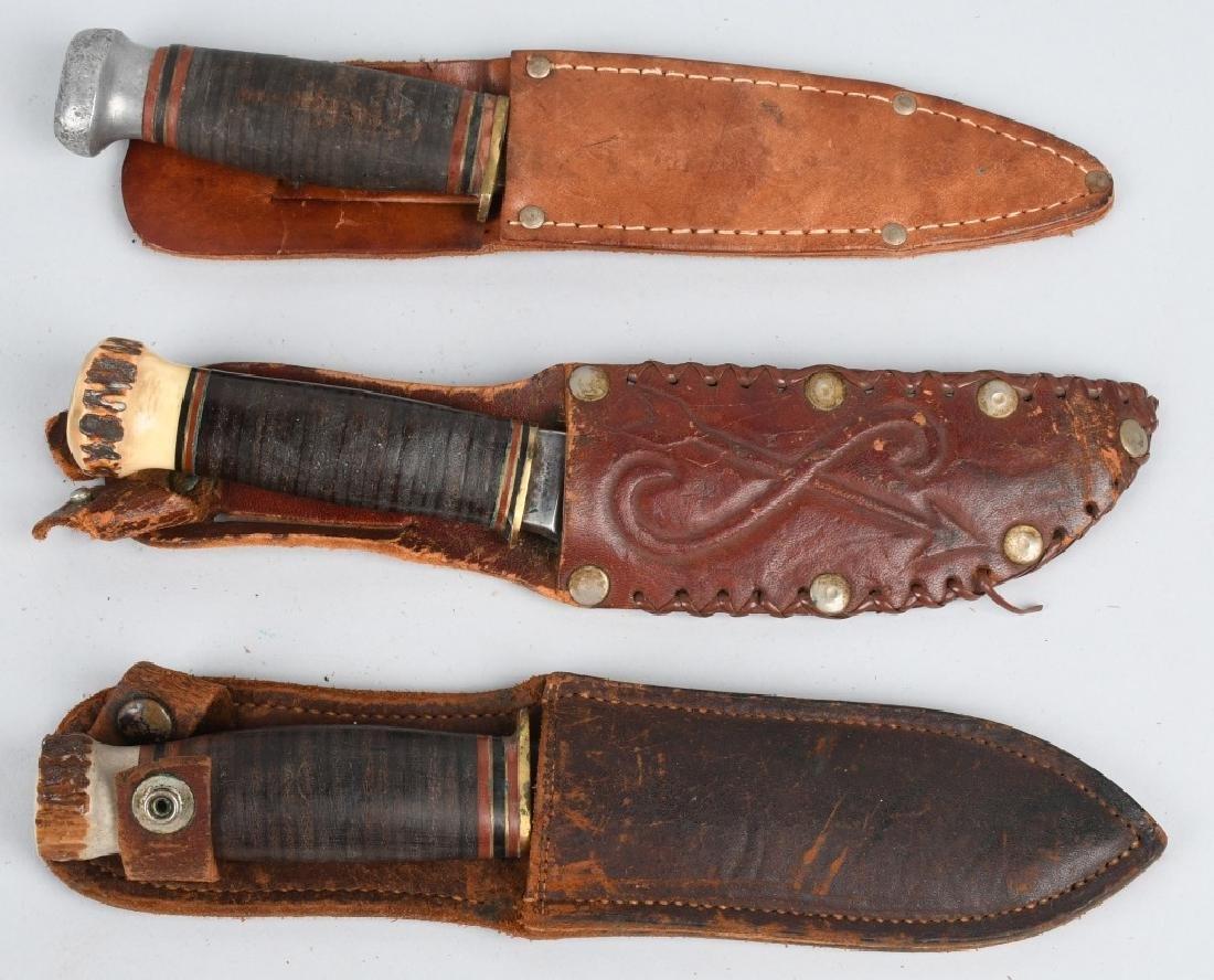 3- EARLY HUNTER & SKINNER KNIVES - 7