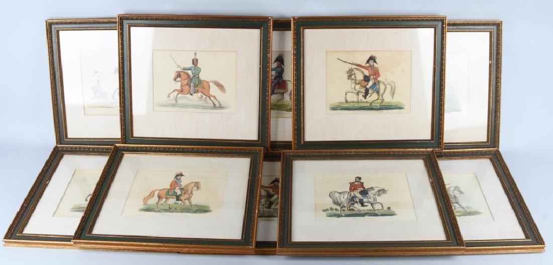 NAPOLEONIC WAR LITHOGRAPHS COMMANDERS PUBL 1815-16