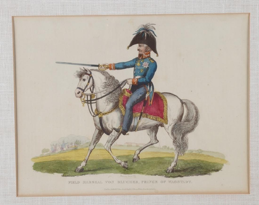 NAPOLEONIC WAR LITHOGRAPHS COMMANDERS PUBL 1815-16 - 2