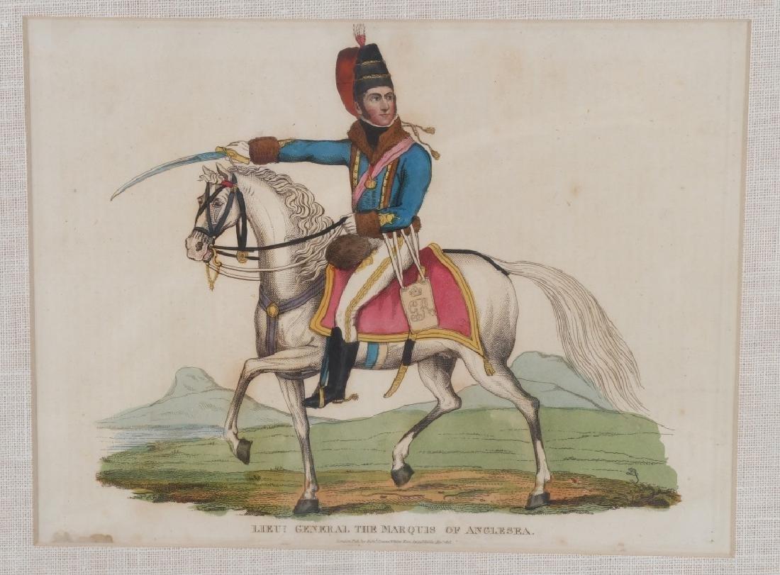 NAPOLEONIC WAR LITHOGRAPHS COMMANDERS PUBL 1815-16 - 3