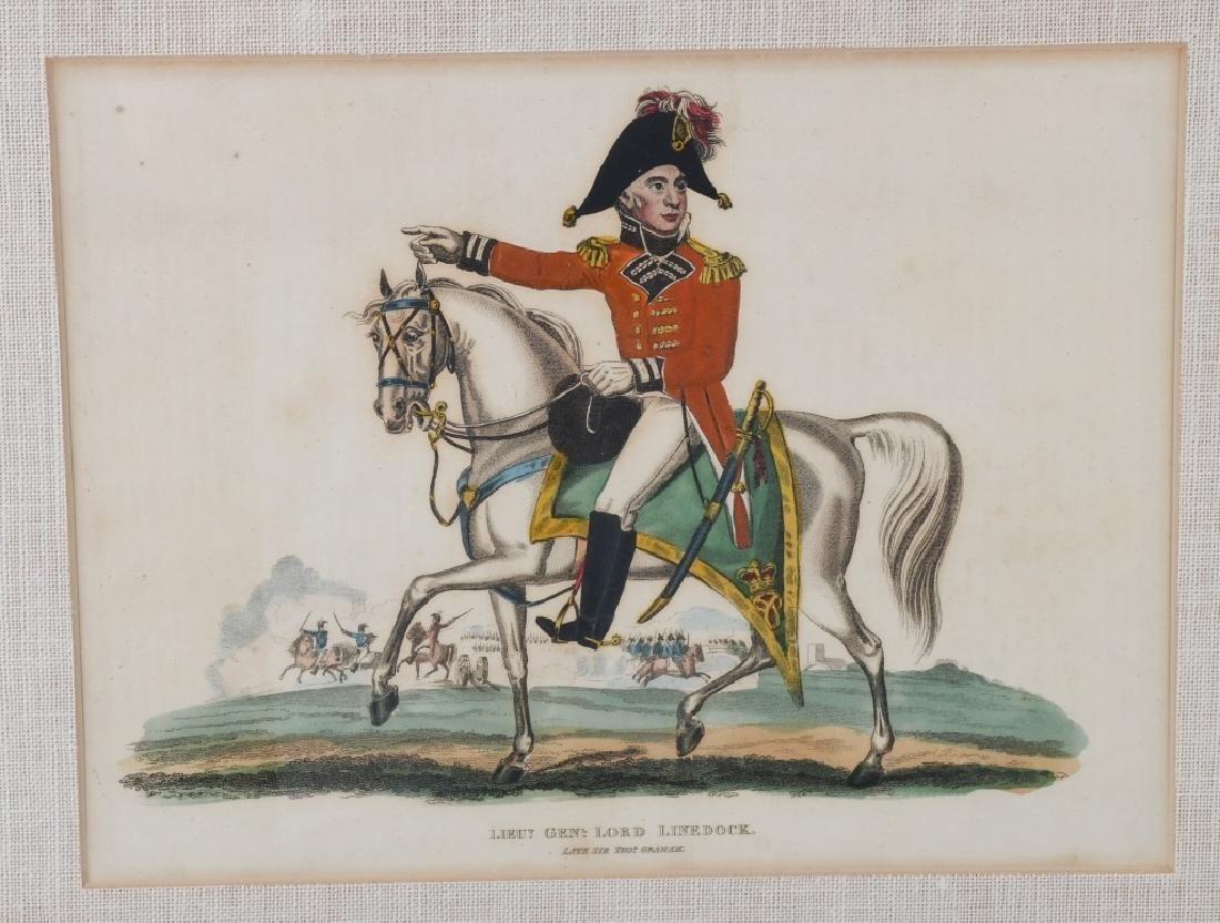 NAPOLEONIC WAR LITHOGRAPHS COMMANDERS PUBL 1815-16 - 5