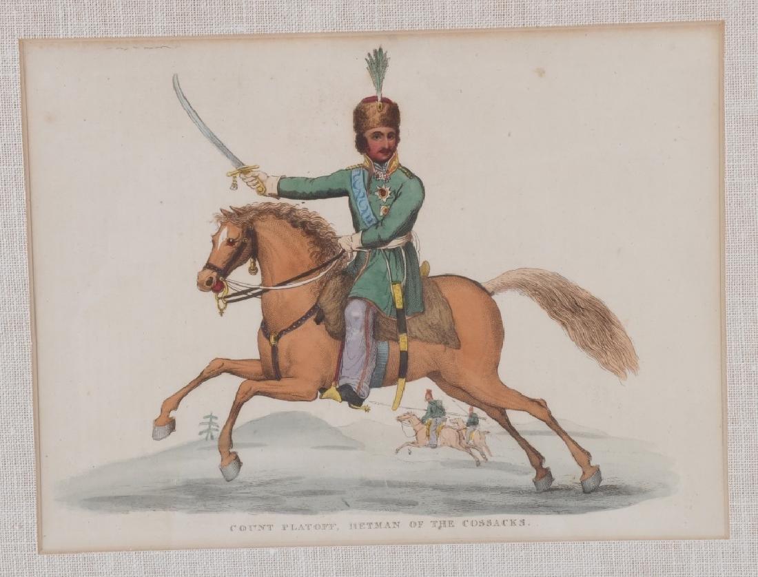 NAPOLEONIC WAR LITHOGRAPHS COMMANDERS PUBL 1815-16 - 9