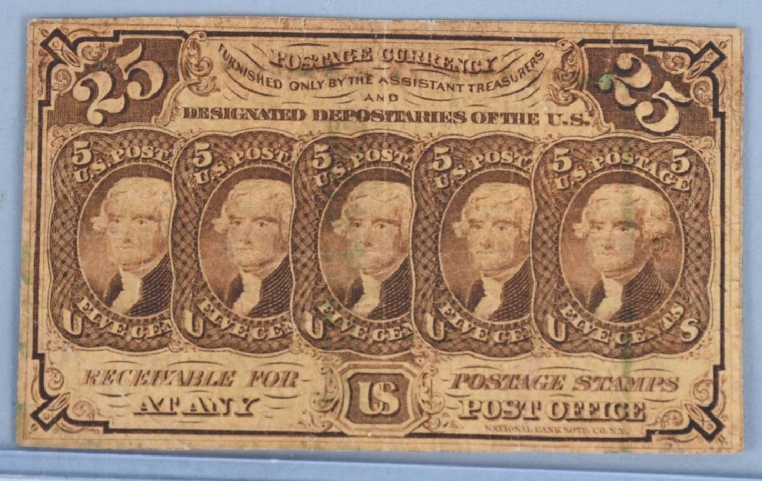 3-CIVIL WAR CONFEDERATE & POSTAGE CURRENCY NOTES - 2