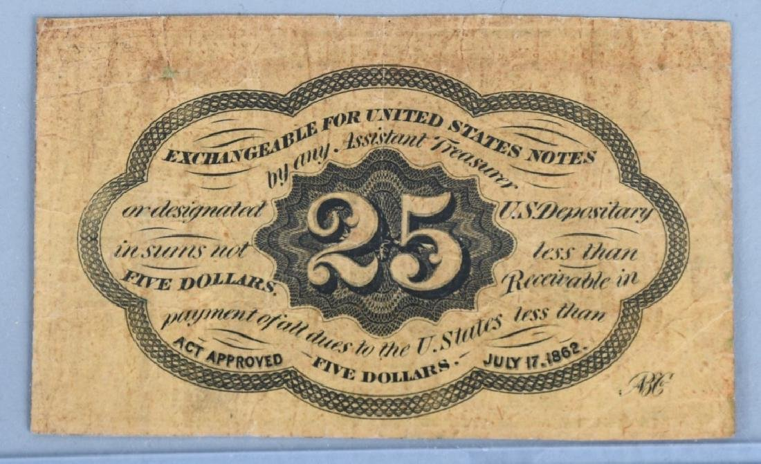 3-CIVIL WAR CONFEDERATE & POSTAGE CURRENCY NOTES - 3