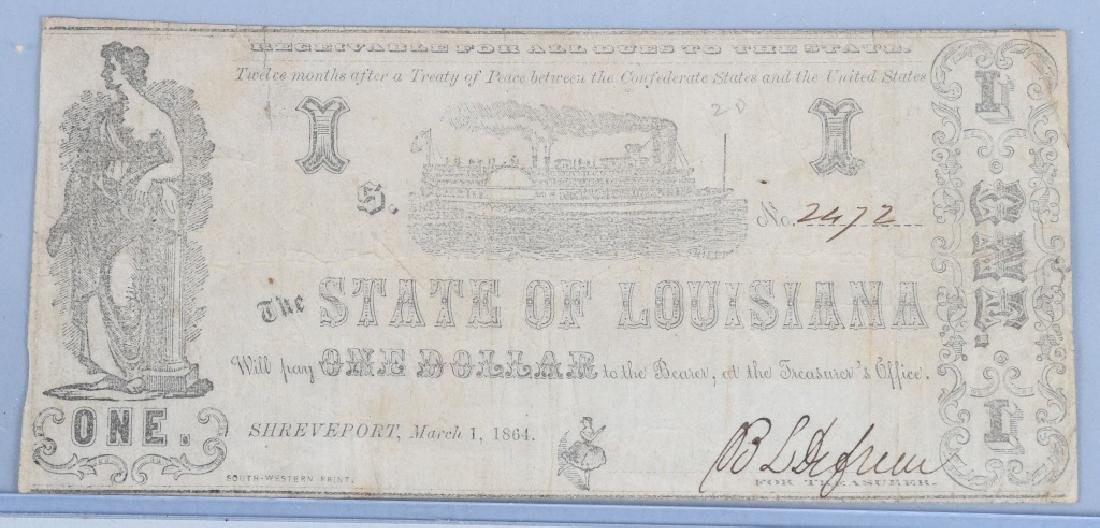 3-CIVIL WAR CONFEDERATE & POSTAGE CURRENCY NOTES - 6