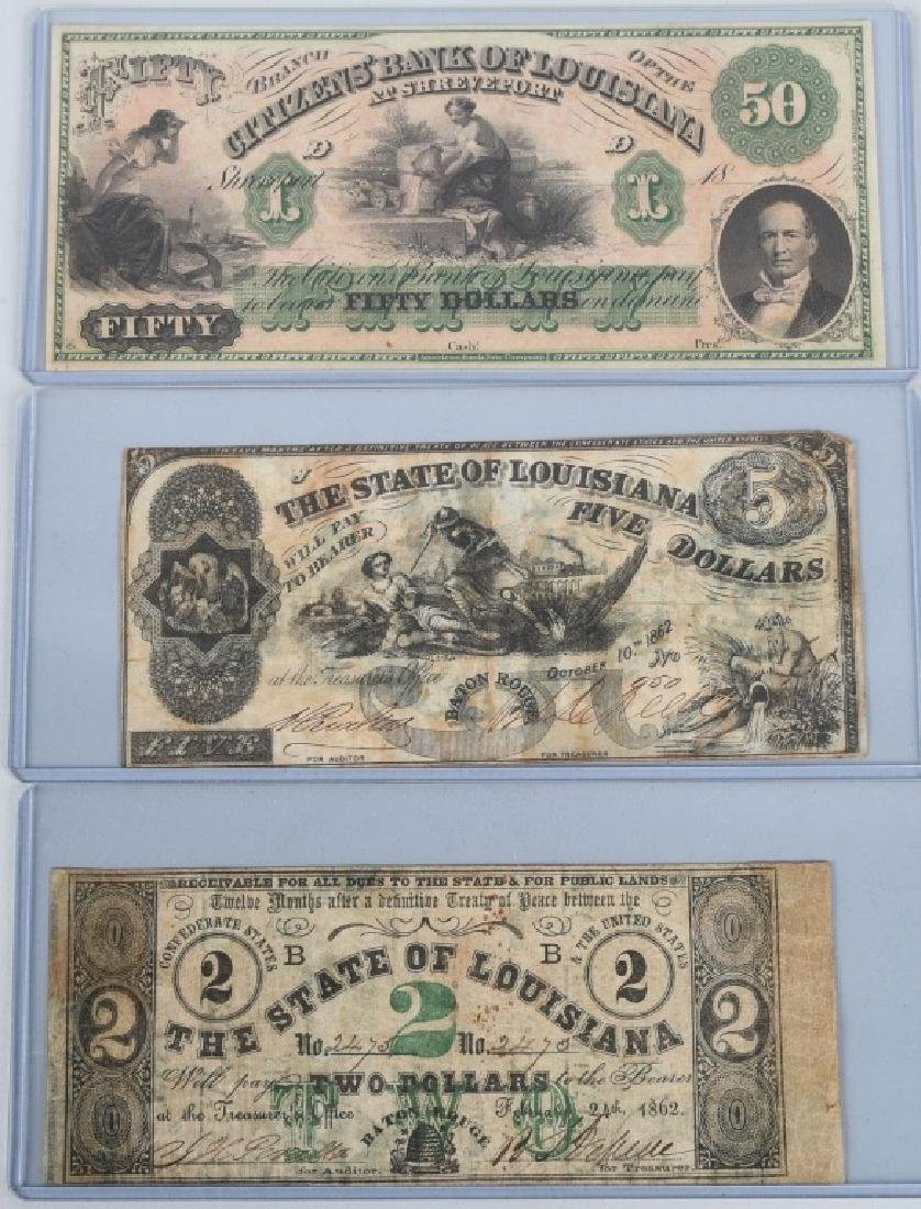 3-CIVIL WAR STATE of LOUISIANA NOTES, 1862
