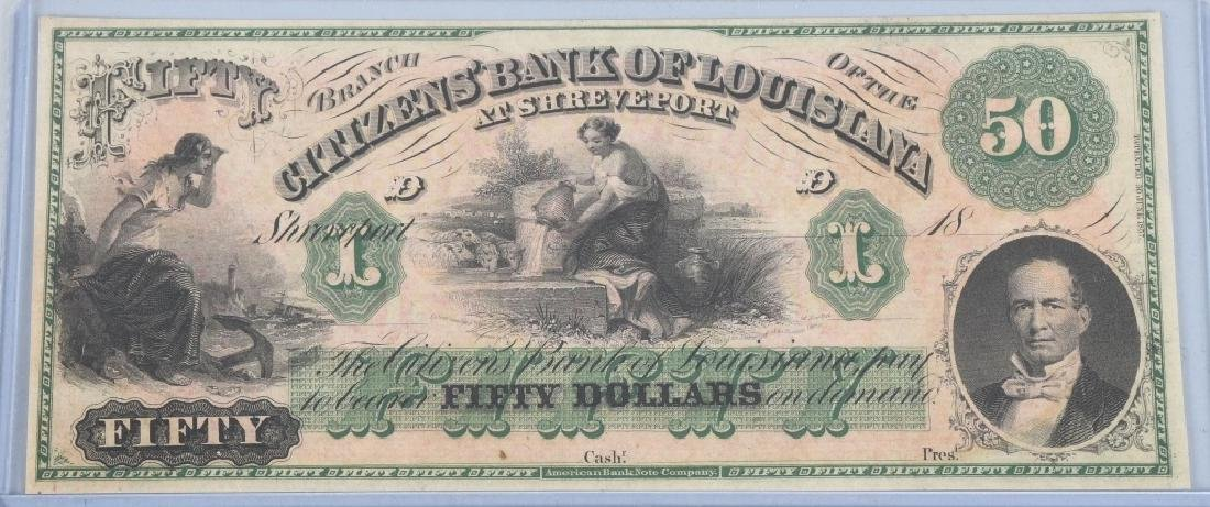 3-CIVIL WAR STATE of LOUISIANA NOTES, 1862 - 3