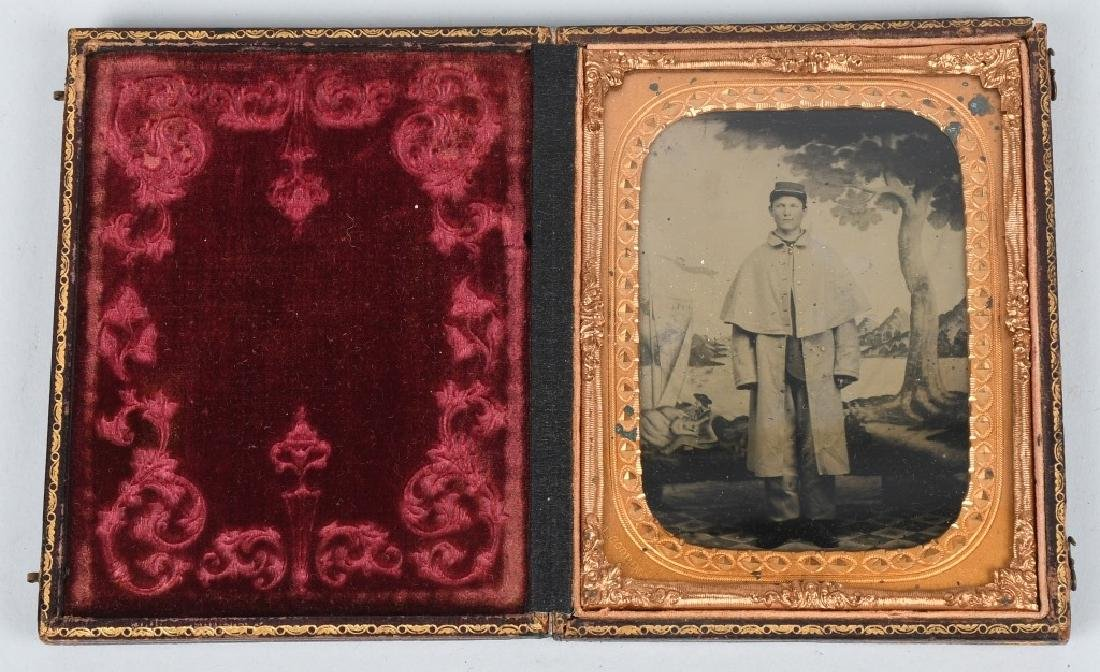 CIVIL WAR 1/4 PLATE TINTYPE UNION SOLDIER