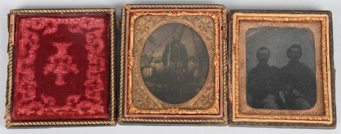 CIVIL WAR SOLDIER AMBROTYPE & IDED TINTYPE