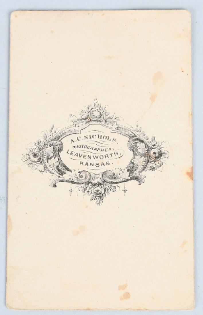CIVIL WAR 1/4 TINTYPE & LEAVENWORTH KANSAS CDV - 7