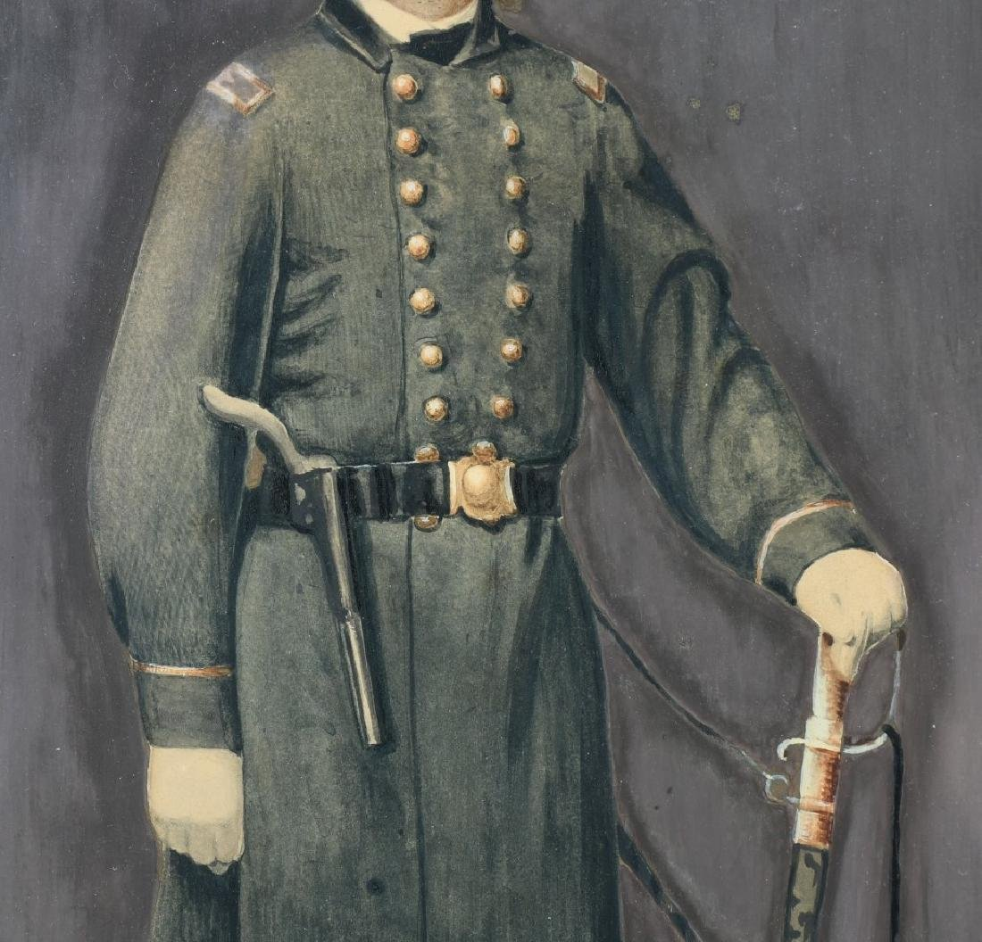 CIVIL WAR IDED PAINTING OF A U.S. NAVAL OFFICER - 3
