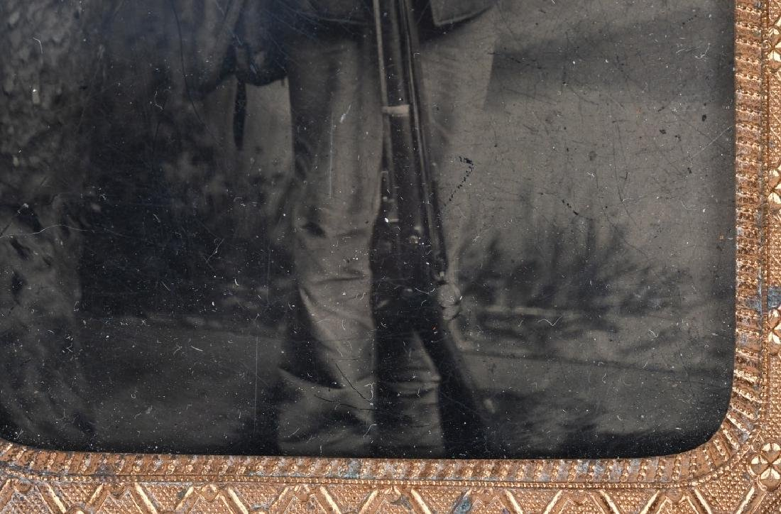 INDIAN WARS 1/8TH TINTYPE SOLDIER ARMED W/ RIFLE - 4