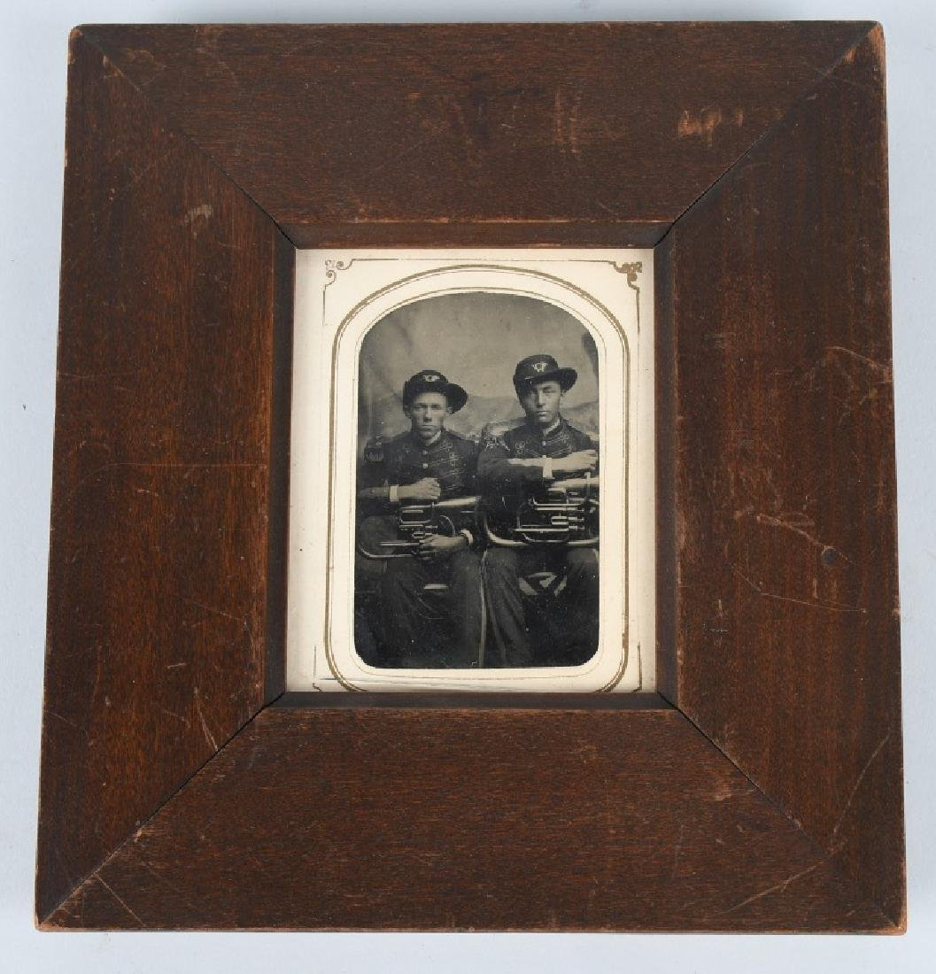 INDIAN WARS ARMY MUSICIAN TINTYPE