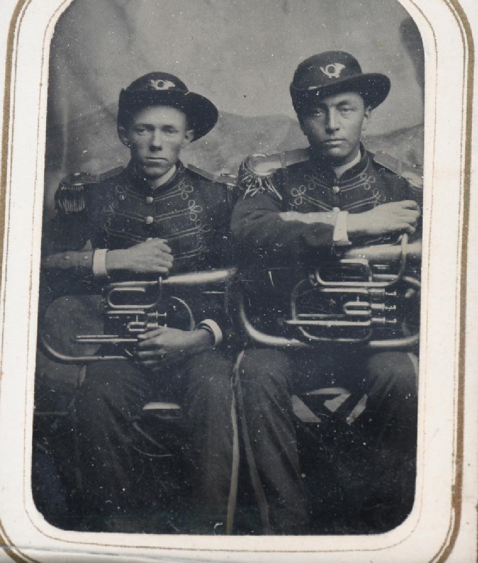 INDIAN WARS ARMY MUSICIAN TINTYPE - 2